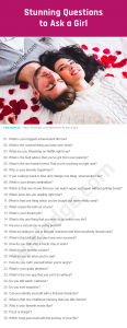 Questions to Ask a Girl Image