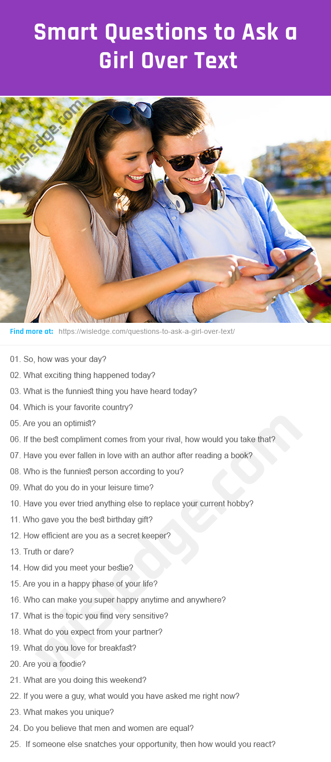 100 Cute Questions to Ask a Girl Over Text - Wisledge