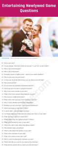Newlywed Game Questions Image