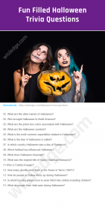 Halloween Trivia Questions Image