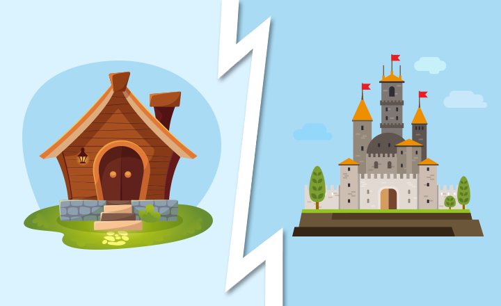 Would You Rather Live in a Small House or Giant Palace